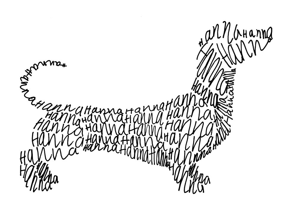 Line Drawing Dachshund : Anti art pets line drawings of dogs and cats by