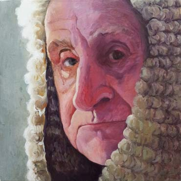 Untitled (Judge), 2013, acrylic on canvas.