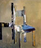 Untitled Chairs, 1991, acrylic and oil on canvas, 140 x 120 cm.