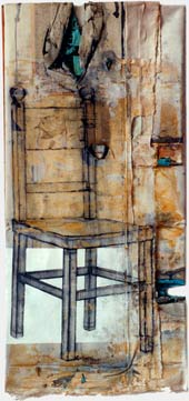 Chairness, 1994, acrylic and charcoal on canvas, 120 x 70 cm.