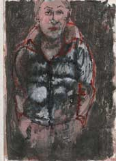 Sketchbook A4-02, 11. Mixed media sketch (jacket boy).