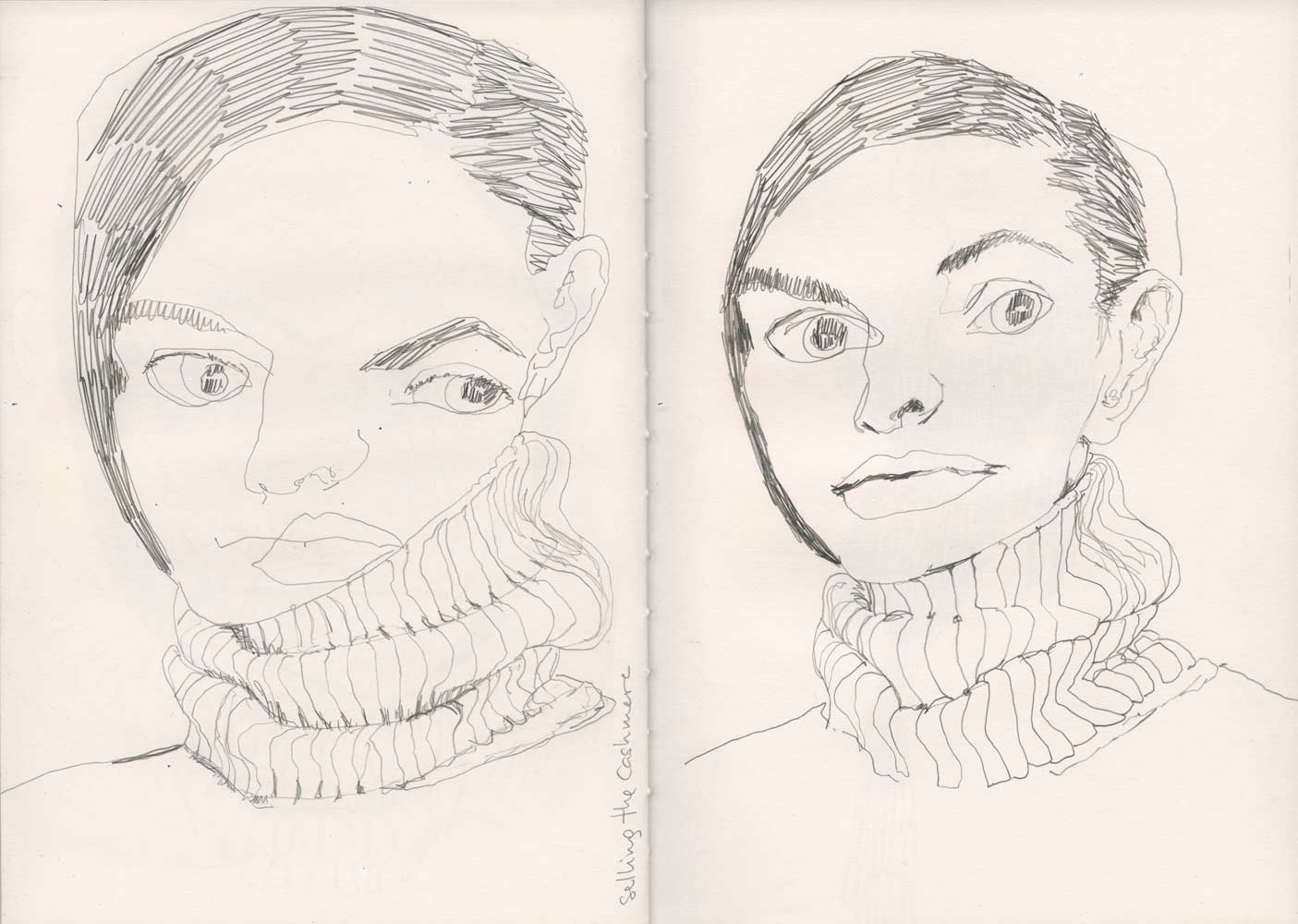 Line Drawing Face : Sketchbook line drawings mixed media sketches and studies